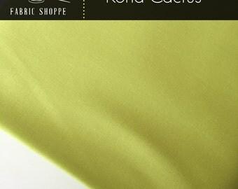 Kona cotton solid quilt fabric, Kona CACTUS 199, Green fabric, Woodland Blanket Fabric, Kaufman, Woodland Nursery, Choose the cut