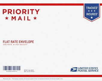 Priority Mail upgrade for USA flat art orders Heartful Art by Raphaella Vaisseau