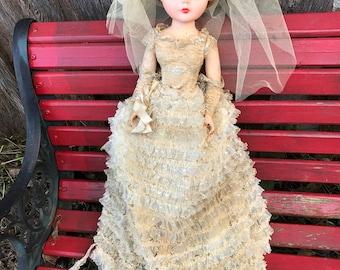 Vintage 1950's Era Revlon Bride Doll (25 Inches Tall)