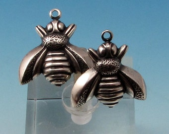 Bee Charms, Antique Silver, 2 Pc. AS361