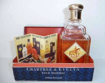 Rare Crabtree & Evelyn Aftershave- After Shave- Vintage 1984 Apres Rasage Shaving Skincare Toiletry- Special Fathers Day Men's Gift Idea