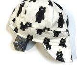 UB2 STARRY-EYED black bears with golden metallic star eyes, party hats & more, baby BOY newsboy sun hat, The Urban Baby Bonnet (all sizes)