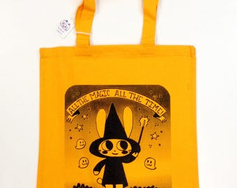 Goldenrod Magical Character Rabbit Tote bag