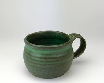 "Chili Bowl - Handmade Stoneware Pottery Clay - Chili Bowl - Cappuccino Mug - Ready to Ship Now - Great Gift - 3""x4.25"" Ex Handle - RZG-CM-2"