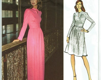 "Vintage Sewing Pattern Ladies' Maxi Dress 1970's Vogue 2788 Couturier Pucci 34"" Bust - Free Pattern Grading E-book Included"