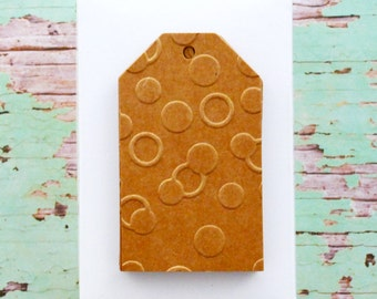 Kraft Brown Tags {10} | Confetti Tags | Embossed Tags | Christmas Tags | Holiday Tags | Embossed Kraft Tags | SALE