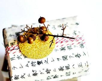 Gold Glitter Seals 1.5in Circle {20} |  Gold Seals | Glitter Stickers | Envelope Seals | Engagement Wedding Seals