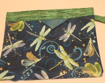 Dancing Dragonflies Blue Pouch Snap Bag