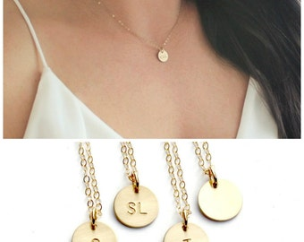 Gold Necklace, Initial Necklace, Personalized Necklace, Dainty Necklace Handmade, Bridesmaid Gift, Gift for Her, TheSilverWren
