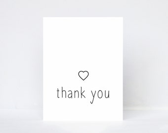 Thank you simple modern typography greeting card