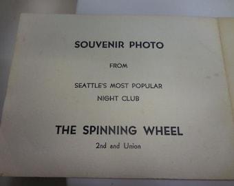 WW2 Souvenier Photo Spinning Wheel Night Club Sailors