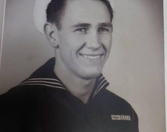 Vintage Sailor Photo World War 2 Era Bob Brown on back