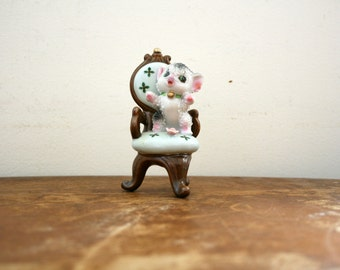 vintage 1950s Pick Me Up Kitty Cat on Chair Made in Japan Figurine