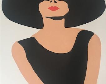 Audrey Hepburn Original Handpainted Framed Pop Art Canvas Painting