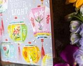 Shine Your Light - GLITTER! Greeting Card