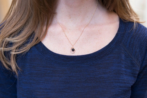 LAVA Rock diffuser jewelry for essential oils - simple / lava essential oil drop