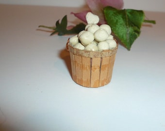 Dollhouse Miniature Kitchen Miniature Food Basket Potatoes Collectible