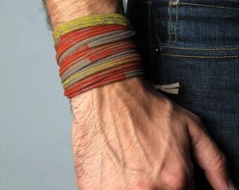 Wrap Bracelet, Cuff, Gift, Christmas Gift, Anniversary Gifts, Hipster, Boho Jewelry, Groomsmen Gift, Bohemian Jewelry, Yoga Bracelet, Dad