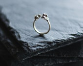 Sterling silver wrap ring / Organic ring / Rough ring / Unrefined ring / Modern ring /