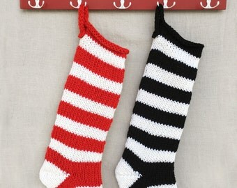 Extra Large Christmas Stocking- Knit Christmas Stocking- Long Knitted Christmas Stocking- Family Christmas Stockings