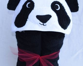 Panda Bear Hooded Towel - Great birthday gift or beach / pool towel