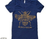 Womens SAVE The BEES american apparel t shirt S M L XL (+ Color Options)