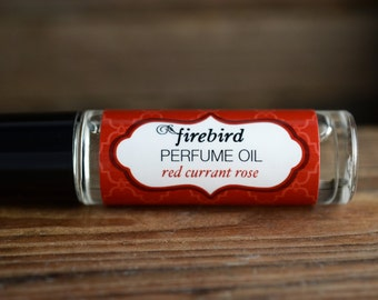 Red Currant Rose Perfume Oil - rose petals, red currant, rhubarb, wild strawberry