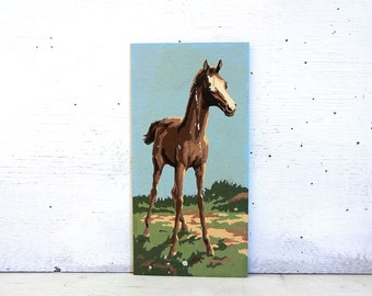 Paint By Number Colt | Pony Horse Paint By Number Painting | Craftmaster Paint By Number Colts