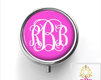 Monogram Pill Box | Personalized Pill Box | Style 330