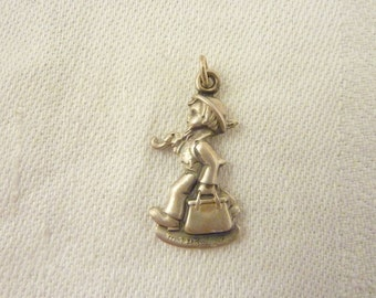 Vintage Sterling Silver Goebel Hummel Little Boy Charm