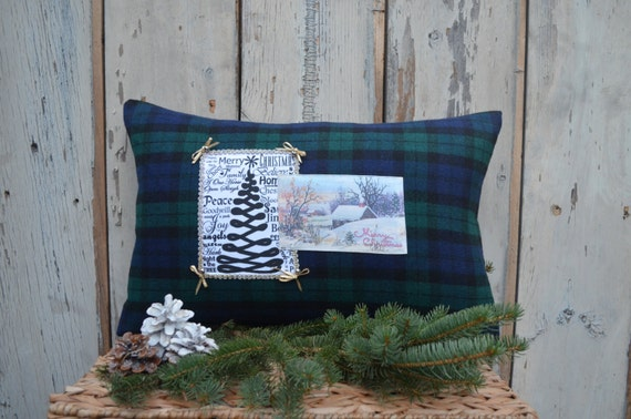 Christmas Pillow with Cottage Charm
