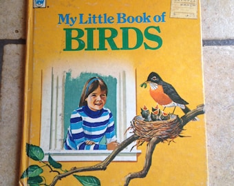 1973 My Little Book of Birds Tell a Tale Book by Whitman