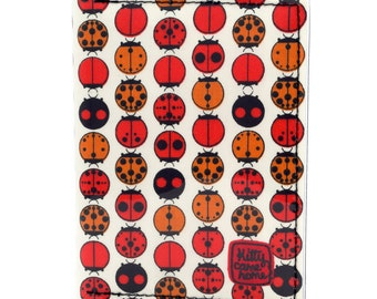 Passport wallet (small) - Linear Ladybugs fabric