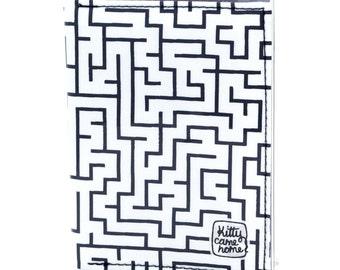 Passport wallet (small) - Maze fabric