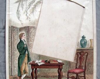 antique photo album page with Victorian illustrated graphics - Momento Mori - 8X11 inches