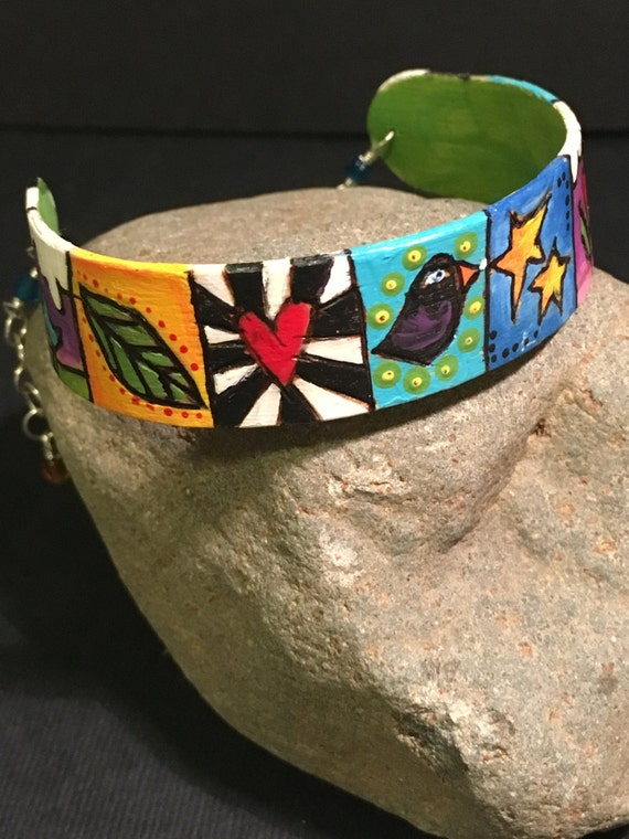 "Bracelet ""Tale of Two Birds and a Butterfly"""