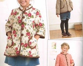 Girls Coat and Jacket  Child Boho Granny Chic Simplicity 8305 Sewing Pattern Children Size 3 4 5 6 8 Dottie Angel