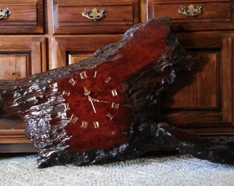 Vintage California Redwood Clock Large