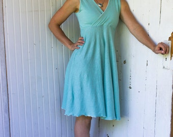 Astrid V-Neck Dress - Hemp & Organic Cotton Lightweight Jersey - Made to Order - Many Colors Available - Eco Fashion - Boho Chic