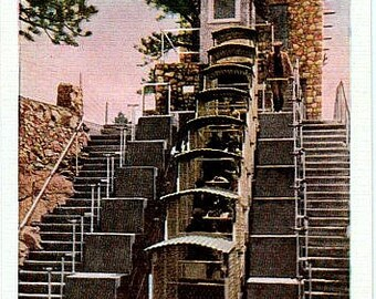 Vintage Colorado Postcard - Top of the Royal Gorge Incline Railway (Unused)