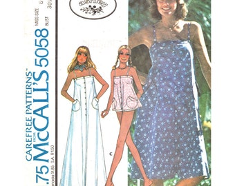 Laura Ashley Top or Dress Pattern McCalls 5058 Flared Sundress or Smock Top, Tent Dress, Maxi Dress Women Sewing Pattern Size 6