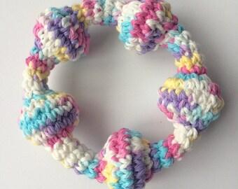 Crochet Rattle/Teething ring- baby shower gift/ Easter gift