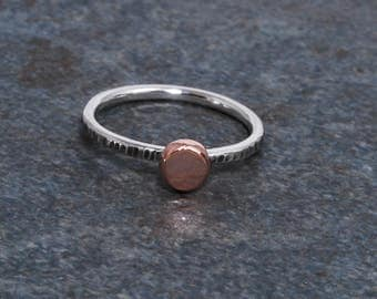 Gold and Silver Rings, Rose Gold, 14K Rose Gold, Rose Gold Ring, Stackable Rings, Silver and Gold Ring, Emma's Jewels