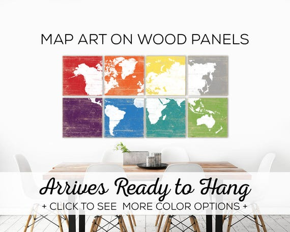 Extra Large Map Artwork Living Room Art