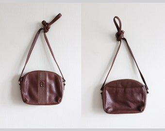 Vintage Etienne Aigner Brown Leather Crossbody Bag