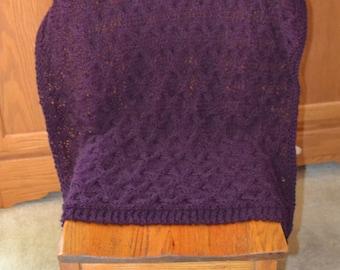 Deep Violet Baby Blanket~Violet~Baby~Baby Blanket~Blanket~Knit