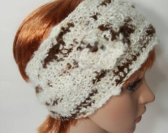 Suri Alpaca Ear Warmer, Alpaca Ski Band, Alpaca Headband. Natural Color Alpaca, Womens Ear Warmer