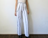 Tati Compton X Rusty Cuts 8 Ball Pants / High Waisted White Pants Sz XS S M L