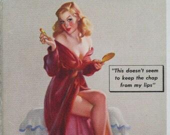 c1940s Elvgren Pin Up Advertising Blotter Boudoir Beauty