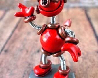 Valentine's Day Robot Devil Dall Mini Robot Sculpture Geek Unisex Gift